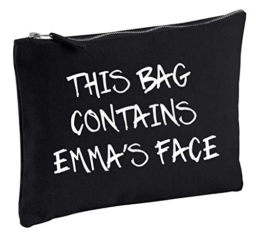 (Personalised This Bag Contains My Face Black Make up Bag Gift Present Idea Cosmetics Bag Toiletries)