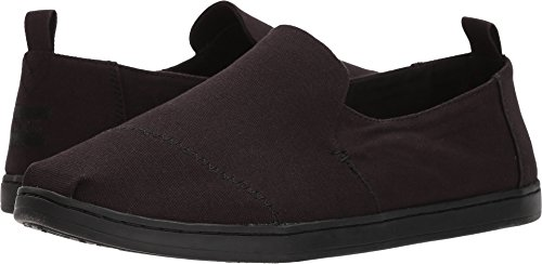 TOMS Deconstructed Alpargata Men's Slip on Shoes Black/Black Canvas (10.5 D(M) US) (Canvas High Shoes)