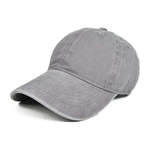 [VOBOOM Washed Cotton Adjustable Sport Outdoor Baseball Cap BQ035 (Grey)] (Funny Hats For Sale)