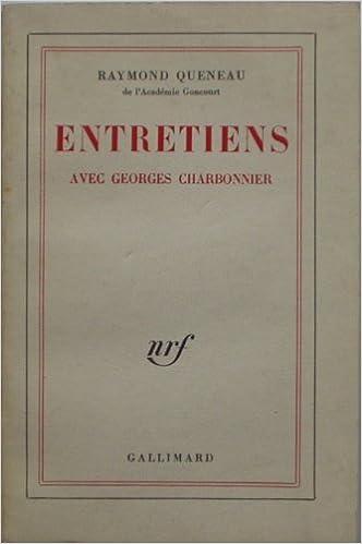 34ea874c4c4 Amazon.fr - Entretiens   Avec Georges Charbonnier   Raymond Queneau - Raymond  Queneau