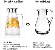 Jarra de vino de pl/ástico duro resistente 9 litros jarra de agua 1 pieza con tapa