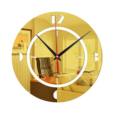 3D DIY Wall Clock Modern Design Saat Reloj De Pared Metal Art Clock Living Room Acrylic