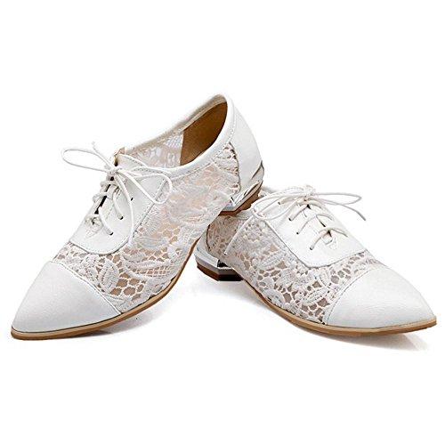 COOLCEPT Damen Mode Schnurung Pumps White