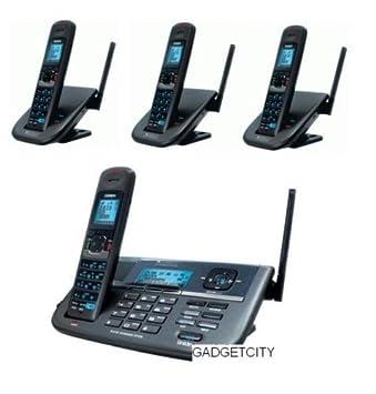 uniden xdect r r055 3 2 line digital cordless phone 4 handsets total rh amazon com au
