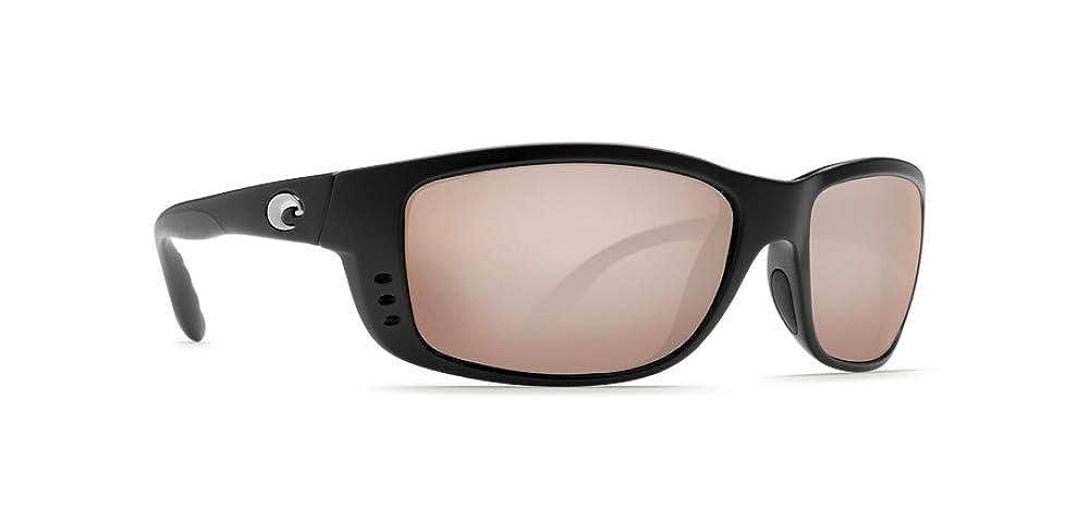 96d4da512ecd7 Amazon.com  Costa Del Mar Sunglasses Zane Sunglasses Matte Black Copper  Silver Mirror 580Glass  Clothing