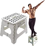 """Super Strong Folding Step Stool - 11"""" Height - Holds up to 300 Lb - The Lightweight Foldable Step Stool i"""