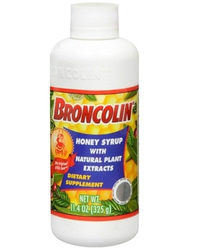 Broncolin Syrup Dietary Supplement for Common Cold 11.4oz