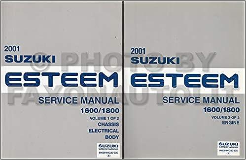 2001 Suzuki Esteem Repair Shop Manual Set Original Suzuki Amazon Com Books