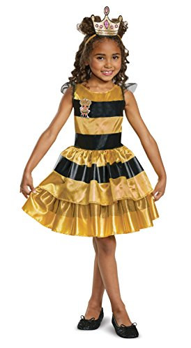 (L.O.L. Surprise! Queen Bee Classic Child Costume, Yellow,)