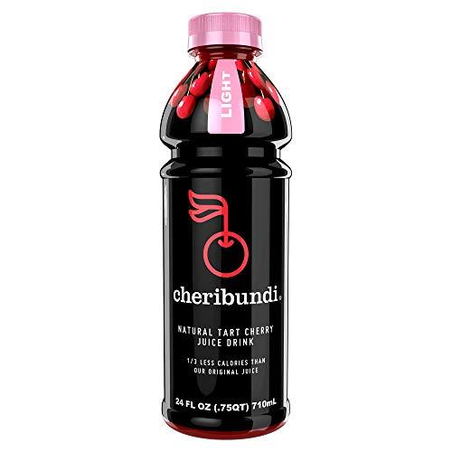 Cheribundi LIGHT Tart Cherry Juice - 40 Tart Cherries and 80 Calories Per 8oz. Serving (Pack of 8), Low Sugar Tart Cherry with Stevia, Reduce Soreness, Recover Faster, Boost Immunity, Improve Sleep
