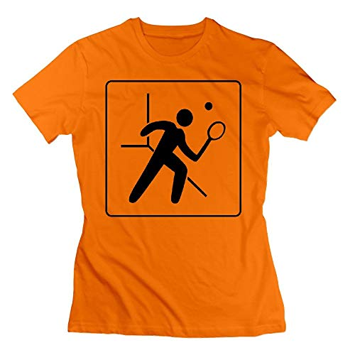 44 Hotel Icon Has Squash Court Womens Tshirts Orange