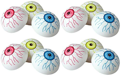 12 Large Halloween Party Eyeball Poppers 1.75