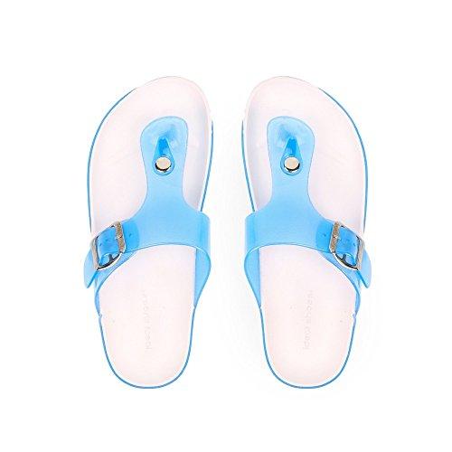 Pieds Shoes Ceinturon Bleu en Nu avec Elise Ideal Plastique Z7wPaEqc