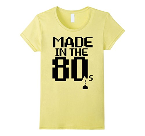 [Women's I Love The 80s Eighties Shirt Culture Pop Classic Flashback  Large Lemon] (Female Pop Culture Costumes)