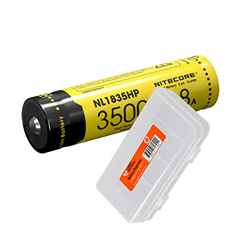 NITECORE NL1835HP 3500mAH 8A+ Lithium-Ion Rechargeable Battery for MH12GTS, MH25GTS, MH23, EC23, HC33, CI7 and Other Flashlights and Headlamps