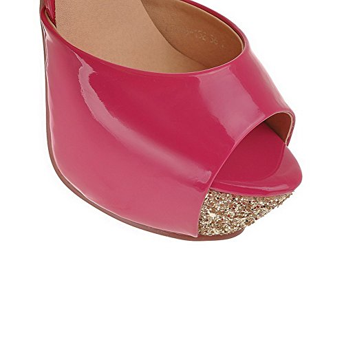 Stilettos WeenFashion Spikes Buckle Women's Sandals Peep Toe Peach Materials Blend Solid qPrPtxwp