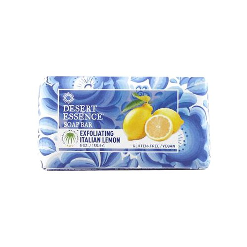 Bar Soap Exfoliating Italian Lemon Desert Essence 5 oz Bar