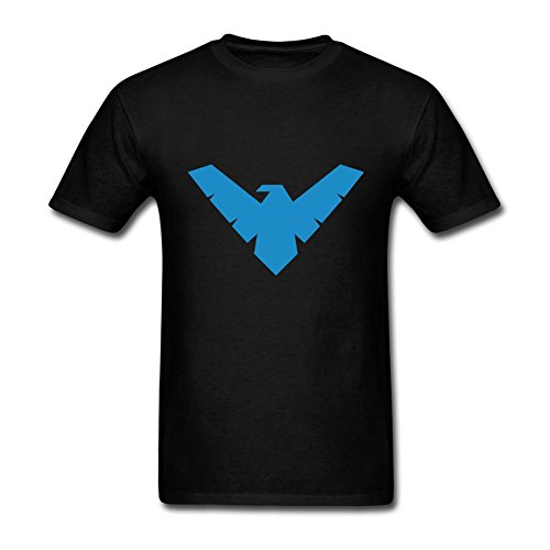 FITTSY Men's Batman Nightwing Symbol Short Sleeve T-Shirt XX-Large Black