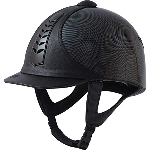 Dublin Unisex Pro Graphic Riding Hat with Leather Detail (20.5in) (Black) ()