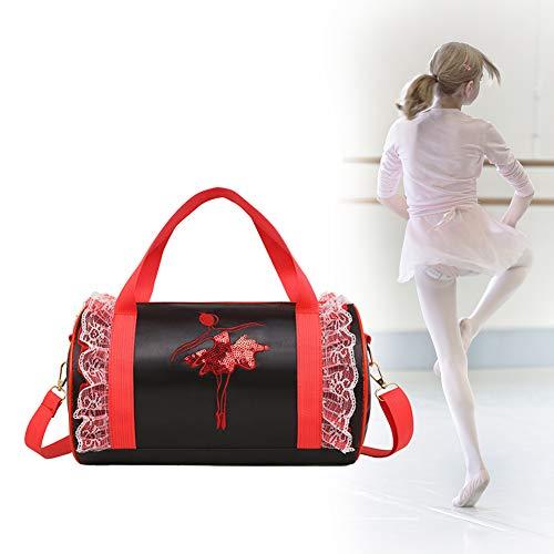 Per Ballet Princess Dance Bag Cross-Body Bags Shoulder Bags for Ballerina Dancer Girls-Black
