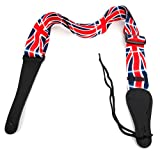 Bray Premium Universal Terylene Union Jack Guitar Strap With Reinforced Ends - Perfect For Any Acoustic, Electric, Bass And Classical Guitar