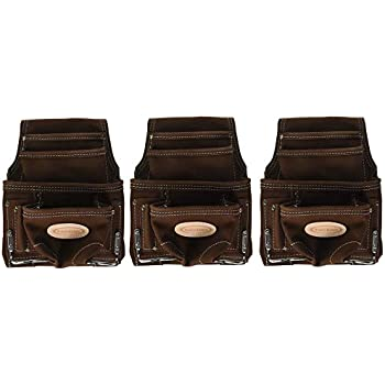 Mcguire-Nicholas 688 Nail /& Tool Bag  Brown Genuine Sueded Leather New