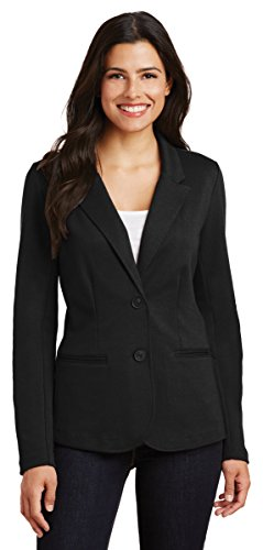 Womens Unlined Jacket - Port Authority?LM2000 Ladies Knit Blazer, XL, Black