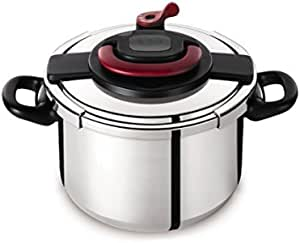 Tefal Stainless Steel Clipso + Pressure Cooker 10 liter, Silver P4371563
