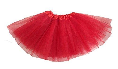 [Girls Ballet Tutu Red] (China Costume For Girls)