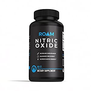 Roam Nitric Oxide L-Arginine supplement: L-Citrulline Malate Dietary Supplement Pills for Muscle Growth, Libido Enhancement, Fat Loss, Stamina and Energy Boost, and Heart Support - 60 Capsules