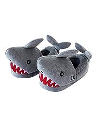 Trimfit Boys Boys Light-Up Eyes Shark Slippers Moccasin