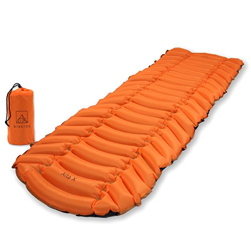 - Blakroq Alta X - New Ultra Lightweight Sleeping Pad for Men and Women - Custom Designed Pads for Outdoor Sleep, Hiking, Backpacking, and Camping - Fast Inflating, Portable, Compact, and Comfortable