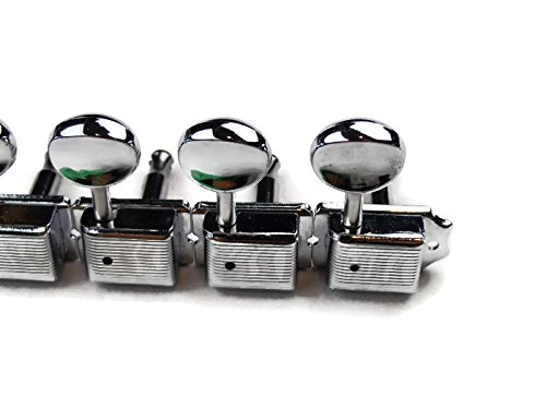 Vintage Stratocaster Telecaster Tuners Chrome String Tuning Pegs Machine Heads: Amazon.es: Instrumentos musicales