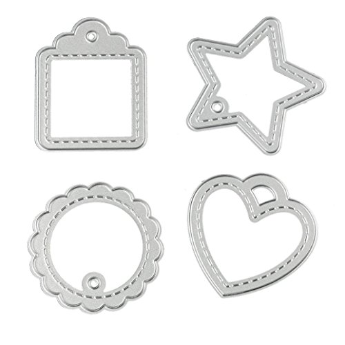 Willsa Lacy Frame Metal Die-Cut Stencil Template Mould for DIY Album Scrapbooking Paper Card (I)