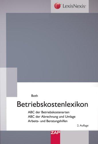 Betriebskostenlexikon Broschiert – 1. Dezember 2006 Dirk Both 3896552317 Allgemeines Lexika