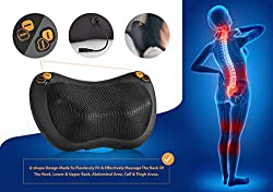 Zuzuro Shiatsu Pillow Massager with Heat - Electric Pillow Back & Neck Massager for Stress Relief & Ultimate Relaxation; Lower Back & Shoulder Massage