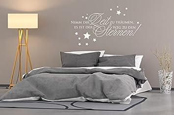 Wandtattoo Nimm Dir Zeit Zum Träumen Nr 2 Wandsprüche Schlafzimmer  Wandsticker Traum Sterne Wanddeko Wandfolie Direkt