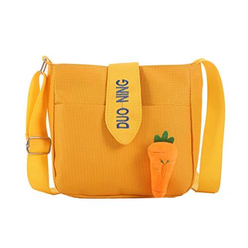 Ballad Women's Classic Shoulder Bags Fashion Cute Solid Color Canvas Bags Carrot Wild Messenger Bags Handbags -