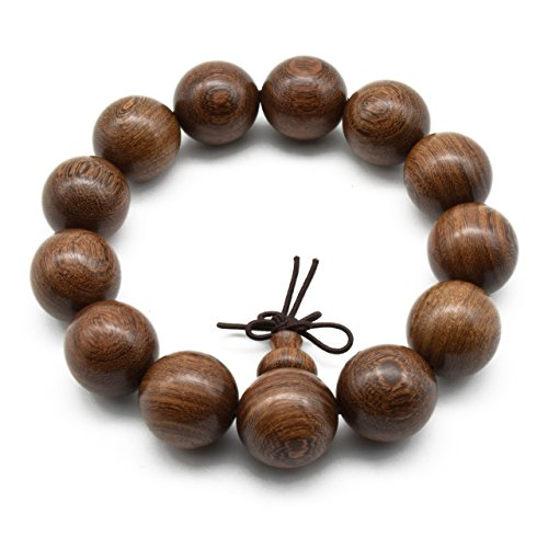 Zen Dear Unisex Natural Silkwood Tibetan Buddhism Meditation Prayer Bead Necklace Japa Mala Beads Bracelets (18mm x 13 Beads) by Zen Dear (Image #4)