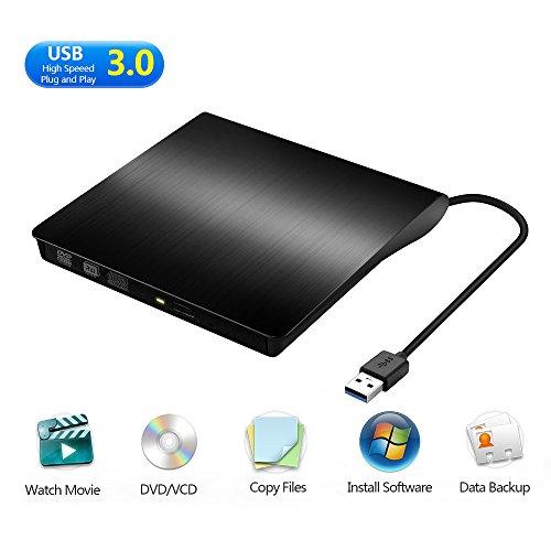 MAXEDOD External DVD Drive, USB 3.0 CD Rom Drive, Ultra Slim DVD/CD Writer Burner Player High Speed Data Transfer Drive for Windows XP/2003/Vista/7/8.1/10, Linux, all Version Mac OS System Black by MAXEDOD (Image #8)