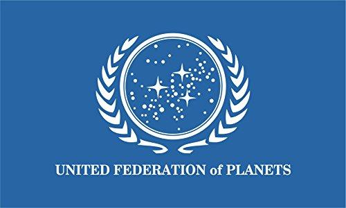 Star Trek Flag | United Federation of Planets | Long Lasting Flag (250x150 cm / 8x5 ft) (Star Trek United Federation Of Planets Blue Flag)