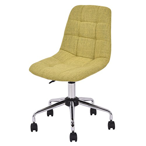 Costway Upholstered Office Adjustable Armless