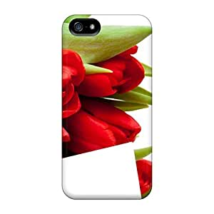 Excellent Iphone 5/5s Case Tpu Cover Back Skin Protector Mother S Day Beautiful Flower Tulips by runtopwell