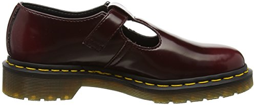 Dr. Martens Womens Vegan Polley Mary Jane Rosso Ciliegia