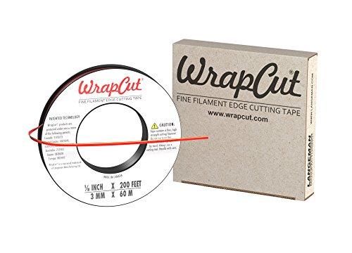(WrapCut, Edge Cutting Tape, 1/8-Inch X 200 Feet, 1 Roll, 883662001260)