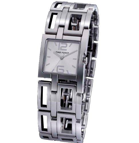 Reloj TIME FORCE de señora. Acero Cadena Esfera Plata. TF-3176L02M: Amazon.es: Relojes