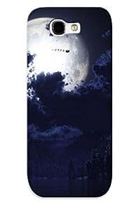 BMIQjlp6408kqnai Case Cover, Fashionable Galaxy Note 2 Case - Santa Sleigh In The Moonlight
