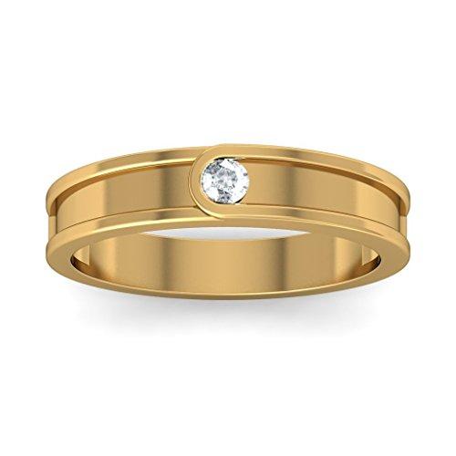 14K Or jaune, 0,06carat Diamant Blanc (IJ | SI) en diamant