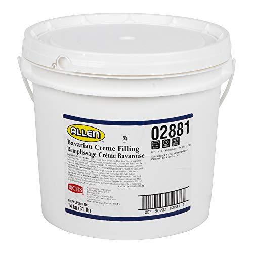 (Rich's JW Allen Bavarian Creme Filling, Perfect for Pastry, 31 lb Pail)