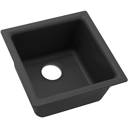 Elkay Quartz Classic ELG1616BK0 Black Single Bowl Dual Mount Bar Sink by Elkay